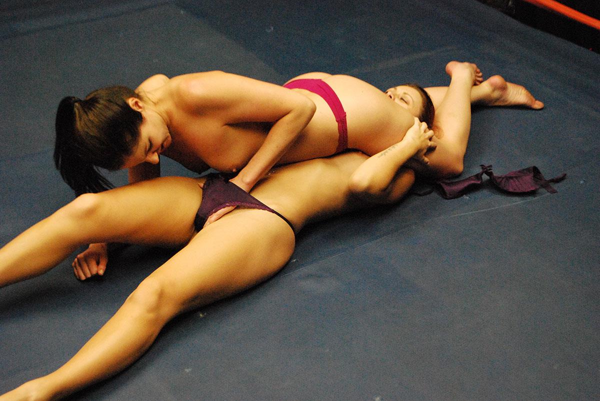 Submission naked wrestling female