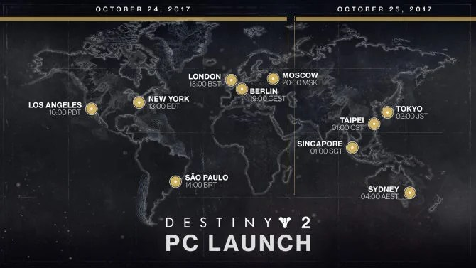 Destiny 2 PC Release Times and Updated Minimum and Recommended Specs Revealed