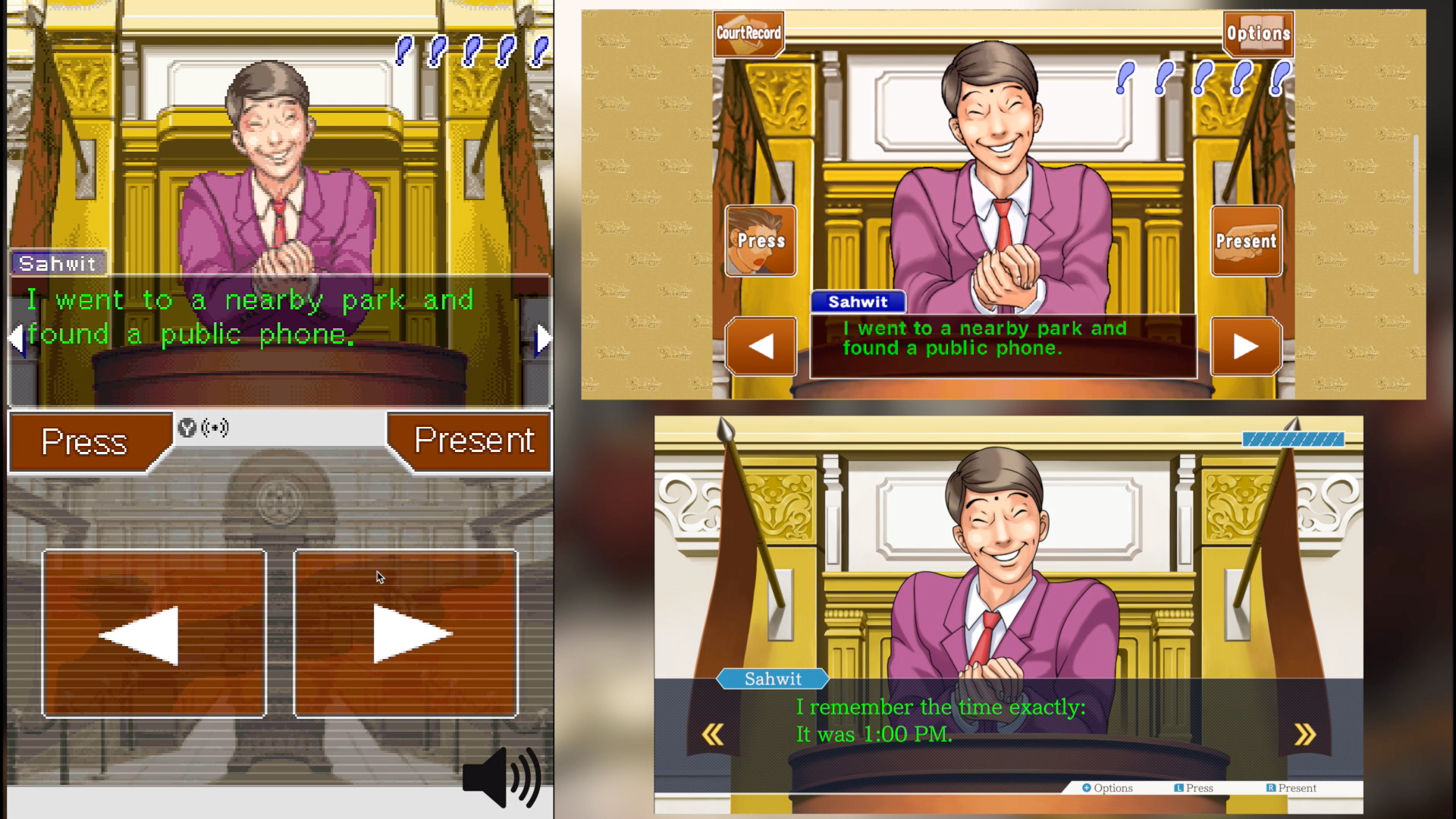 Phoenix Wright Graphics Comparison