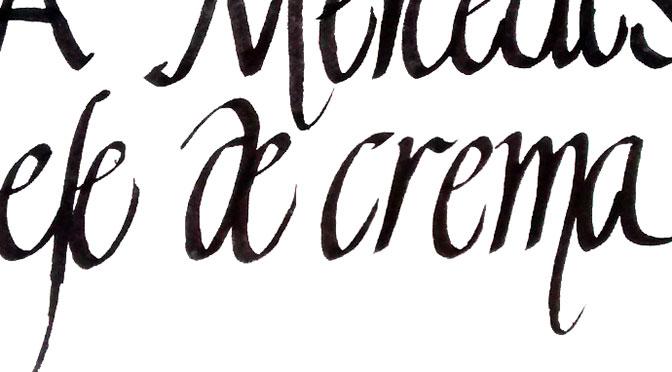 A Mercedes… – Caligrafía