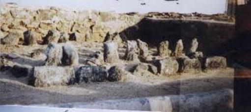 Aisha'a grave amongst others, in Jannatul al-Baqi (Madina).