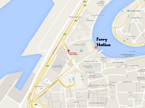 Location of the Al Ghubaiba Ferry Terminal