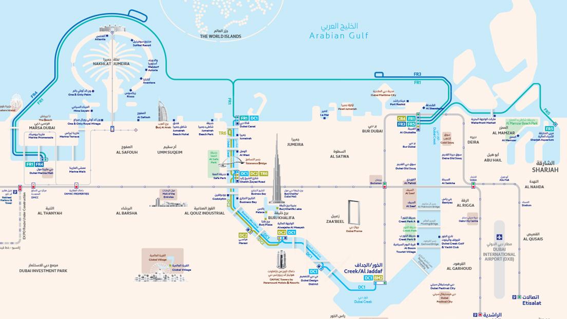Dubai Ferry Maps - Dubai Ferry