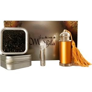 Attar parfum arabesc si bakhoor Mudhila set de colectie