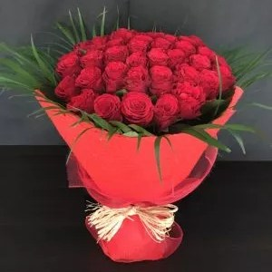 50 red roses bouquet as a gift towards my goal