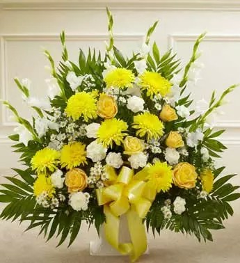 Sun-filled blooms flowers get well gift