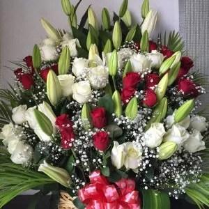 art of love big flower basket