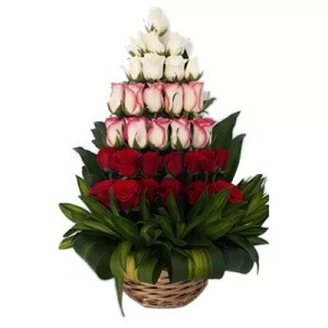 pyramid shape flower arrangement
