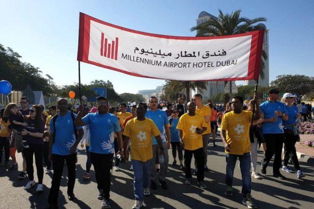 Millennium Airport Hotel Dubai Supports'Dubai Cares Walk for Education'