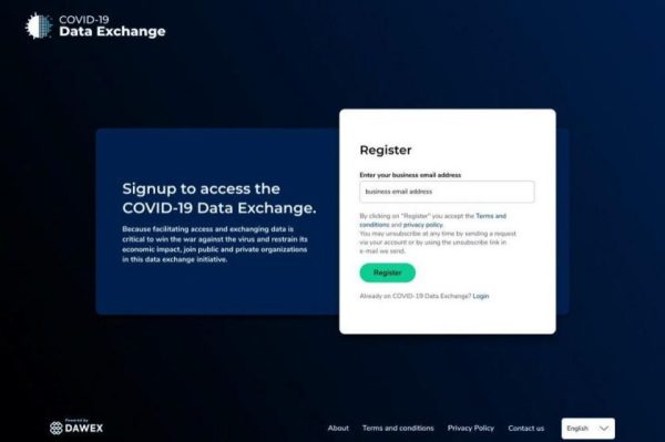 COVID-19 Data Exchange to Curb the Virus' Propagation and Limit its Economic Impact