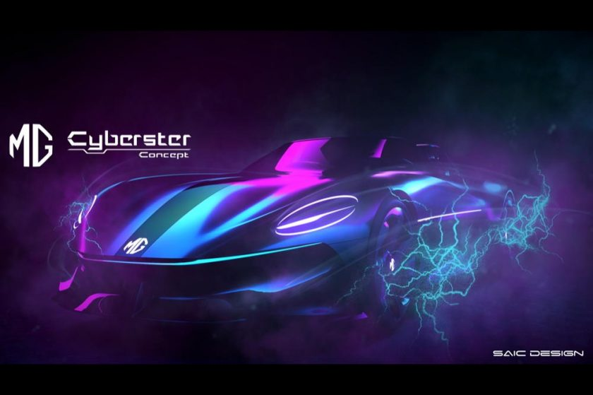 MG Unveils the Cyberster Concept – a Totally New Pure-Electric Roadster for the 5G Era