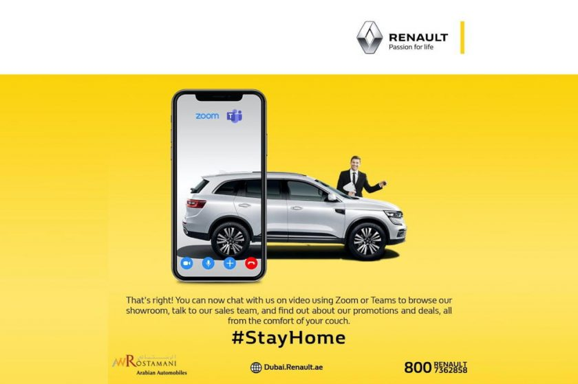 RENAULT of Arabian Automobile seeks customer comfort, launches live sale process