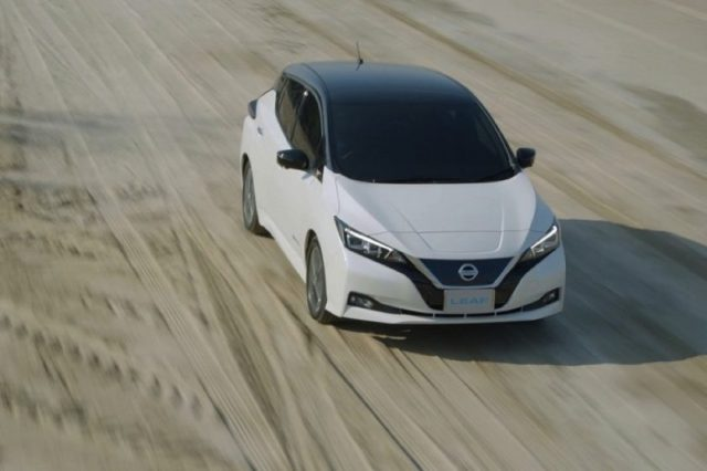 Nissan LEAF dares to challenge Mother Nature