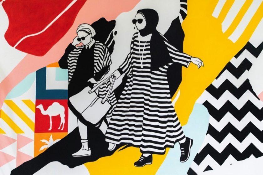 """""""ابن بطوطة مول"""" يطلق العنان لإبداعاته مع لوحة فنية جدارية حية"""