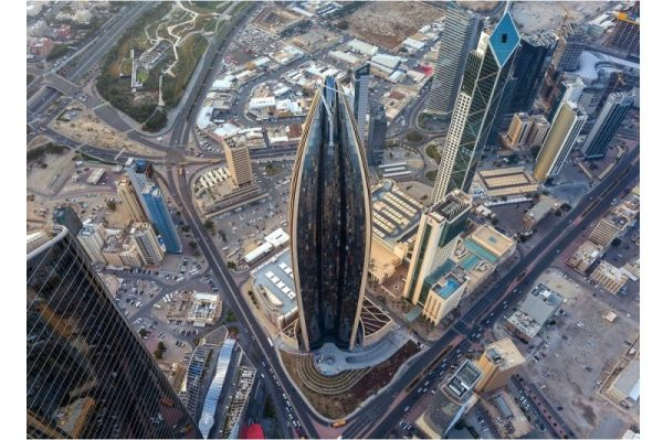 thyssenkrupp Elevator installs unique TWIN elevator systems at National Bank of Kuwait's iconic new head office
