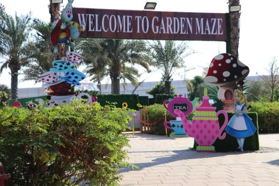 Have fun getting lost at the new Alice In Wonderland Garden Maze
