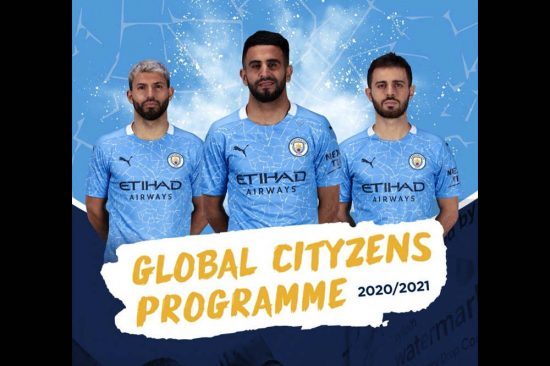 Manchester City Football Club visits A'soud Global School in Oman