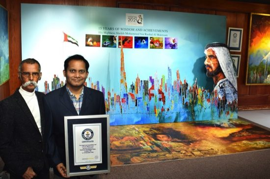 World's Largest Pop up Greetings Card record broken in Dubai,