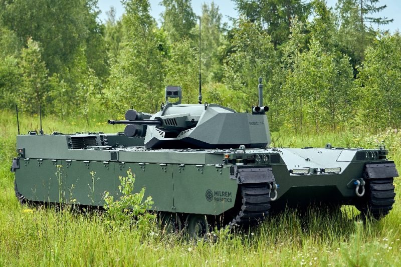 Milrem Robotics' Type-X Robotic Combat Vehicle with John Cockerill's CPWS II unveiled at IDEX 2021