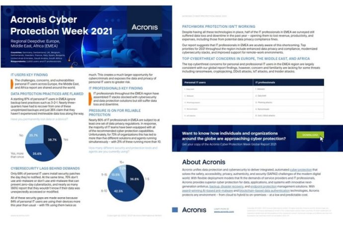 Annual Cyber Protection Week survey reveals post-pandemic paradox: more solutions do not bring better protection