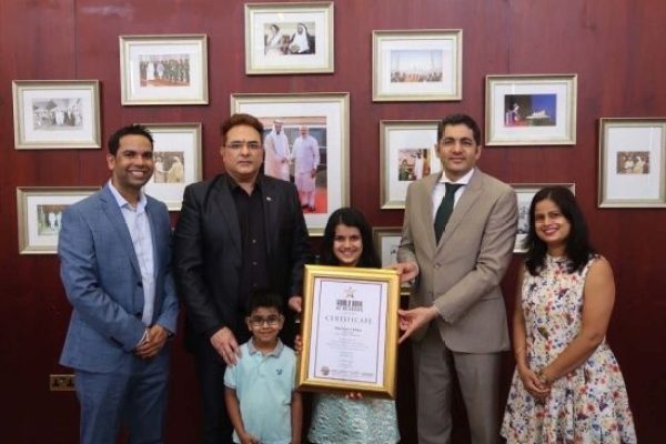 Sara Chhipa, 10-year-old World Book of Records winner felicitated