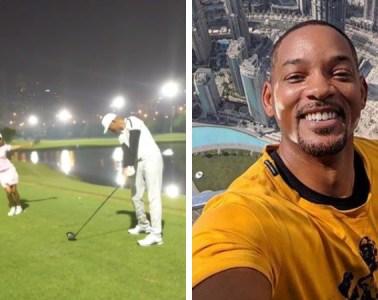 Will Smith Jada Dubai Golf Golfing
