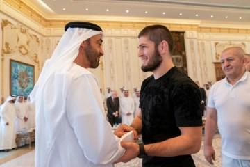 Khabib Nurmagomedov Mohamed bin Zayed Abu Dhabi Crown Prince UFC 242 win