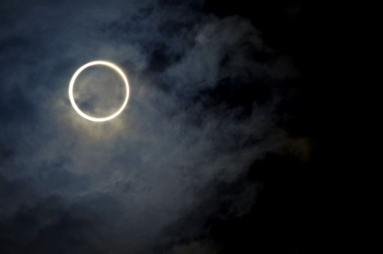 UAE ring of fire rare solar eclipse Dubai Astronomy Group Burj Khalifa At the top