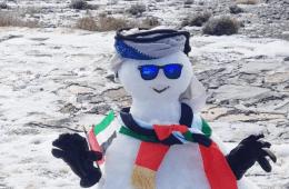 Dubai snowman