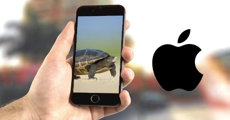 Apple slows down phones