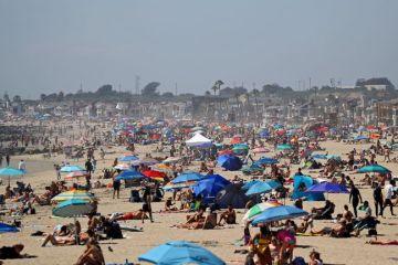 Americans hit the beach