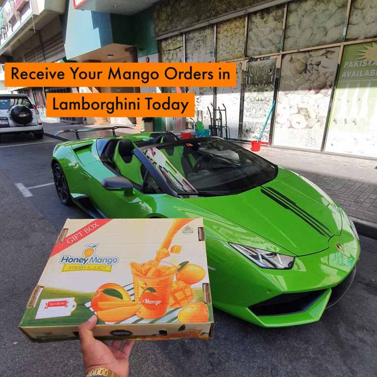 UAE company delivers mangoes via Lamborghini