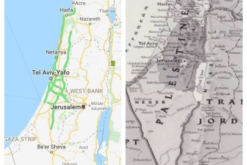 Has Palestine been removed from all online maps?