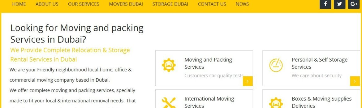 professional movers dubai