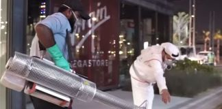 Dubai Municipality has set up a dedicated team to disinfect and sanitised Dubai's streets and public areas as a precautionary measure to contain the spread of the coronavirus COVID-19. Image Credit: Screengrab