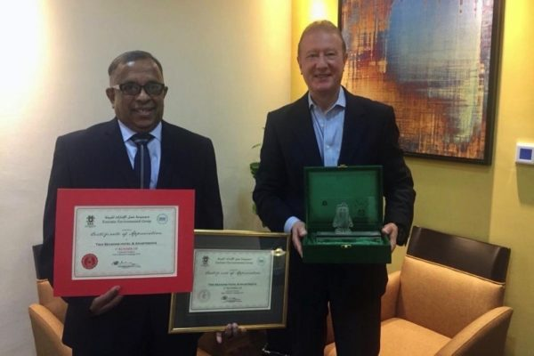 Two Seasons Hotel Awarded by Emirates Environmental Group
