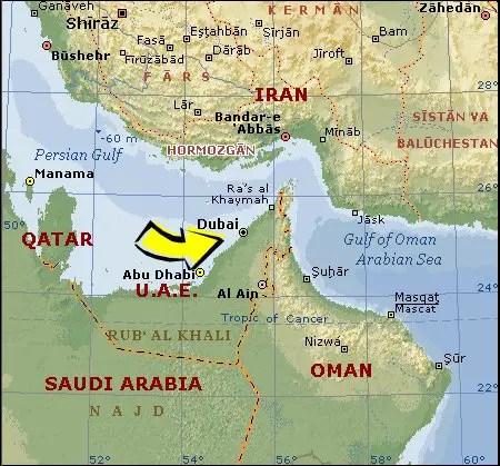 Where is dubai located