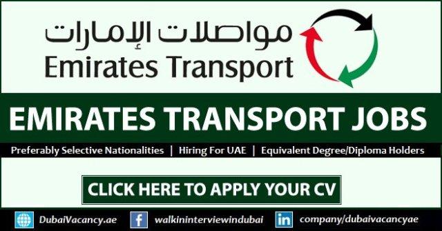 Emirates Transport Careers