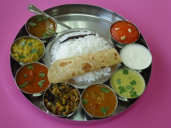 Rangoli in Dubai famous for Gujarati Thali