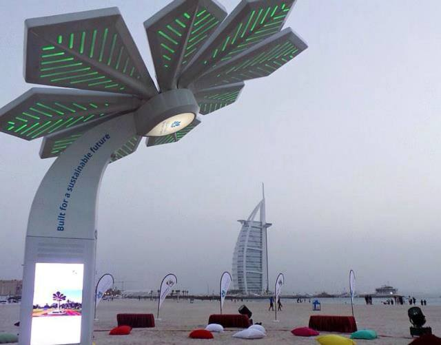 Wifi palms at Jumeirah beach