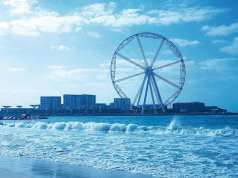 Ain Dubai or Dubai Eye Ferris wheel on Blue Water Island