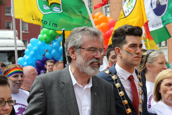 Gerry Adams at Dublin Pride Parade 2014