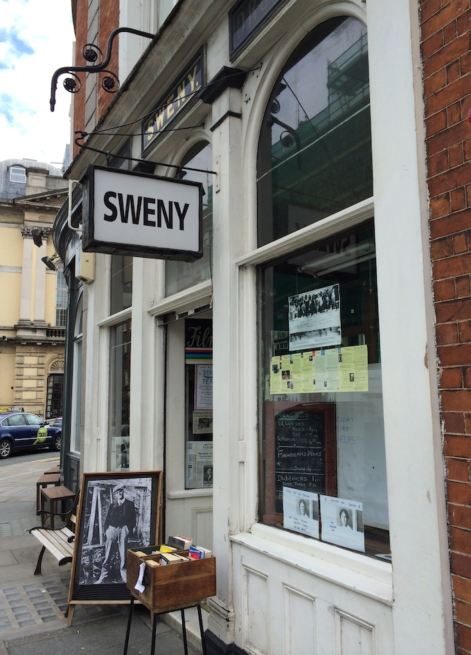 The arcade of Sweny's Pharmacy in Dublin