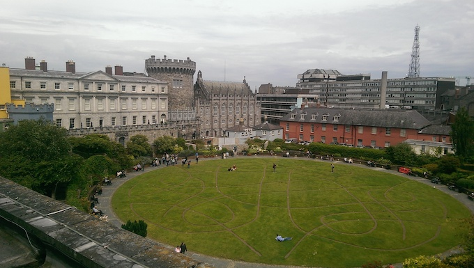 The Dubh Linn Garden as seen from the Chester Beatty Library roof garden