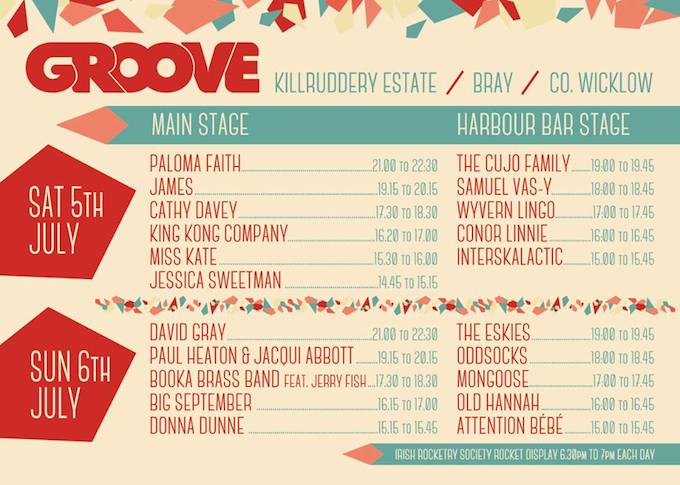 Groove Festival programme