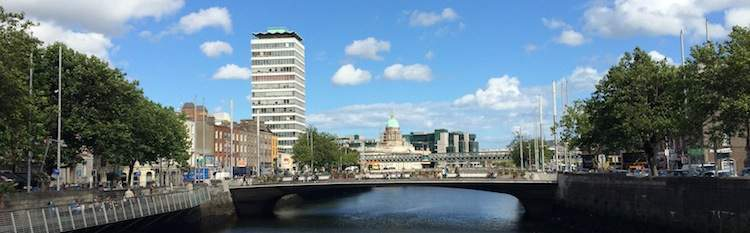 Dublin City and Liffey