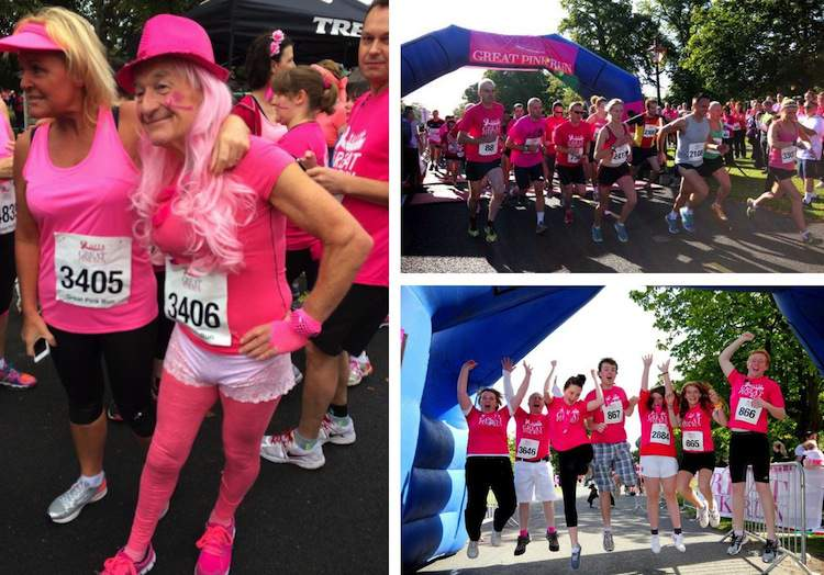 Participants in previous Great Pink Runs