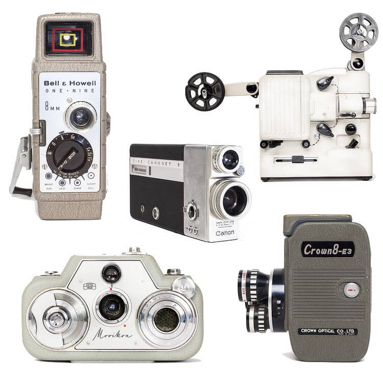 Selection of cameras housed at IFI Irish Film Archive