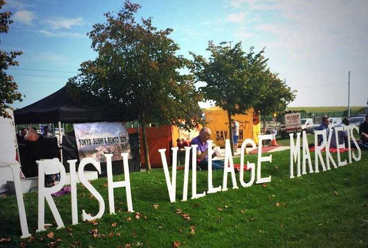 Irish Village Markets signage