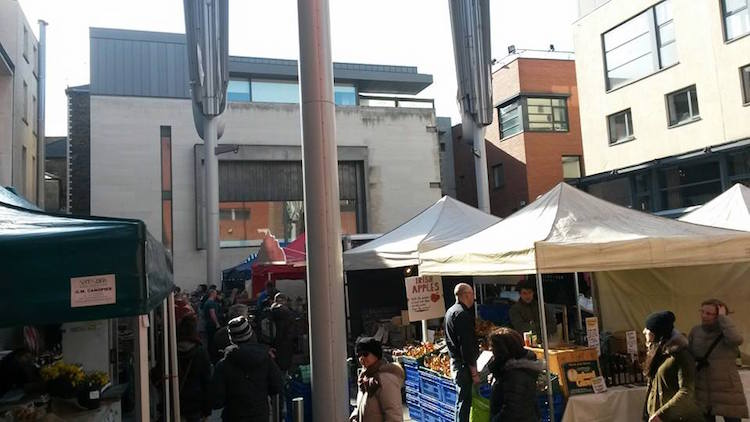 Temple Bar Food Market in Dublin